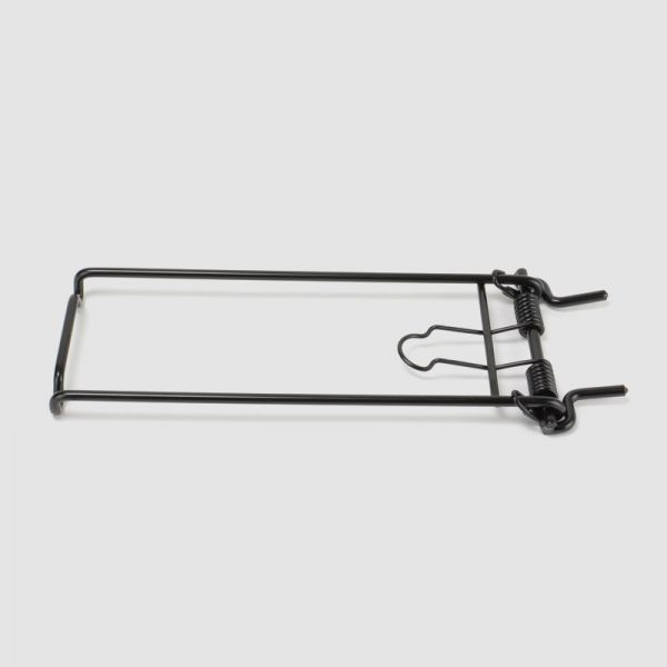 Spring clip for high-strength aluminium pannier rack