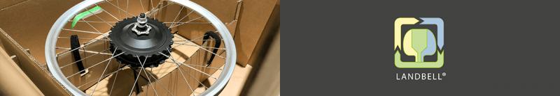 Ein Karton extra für Ihr Laufrad - umweltfreundlich und vollständig recyclebar