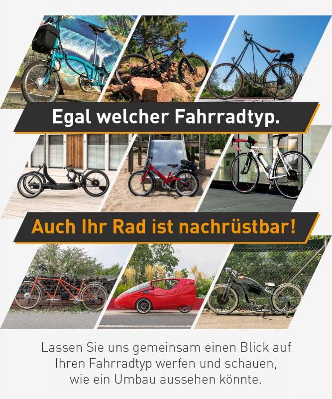 Lassen Sie uns zusammen schauen, was mit Ihrem Fahrradtyp alles möglich ist!