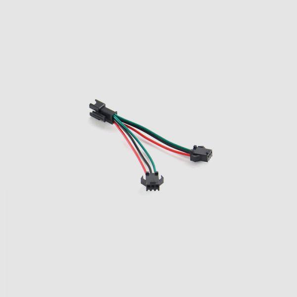 Y-Kabel zum gleichzeitigen Anschluss von Gasgriff und 6-Stufen-Display